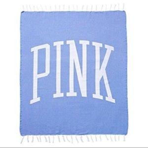 NWT PINK Victoria's Secret beach blanket blue